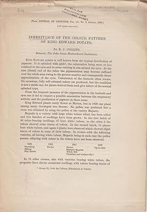 Inheritance of the Colour Pattern of King Edward Potato: Collins, E.J.