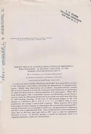 Meiotic Drive in Natural Populations of Drosophila Melanogaster. II. Genetic Variation at the ...