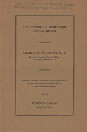 The Nature of Hereditary Mental Defect: Davenport, Charles B.