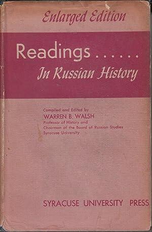 Readings.In Russian History: Walsh, Warren B., editor