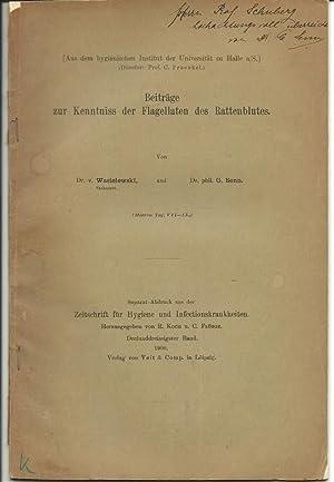 Beitrage zur Kenntniss der Flagellaten des Rattenblutes: Wasielewski, Theodor von; Senn, Gustav