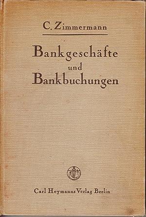 Bankgeschafte und Bankbuchungen: Zimmermann, Carl