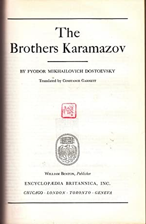 The Brothers Karamazov - Great Books of the Western World Volume 52: Dostoevsky, Fyodor ...