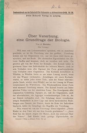 Uber Vererbung, eine Grundfrage der Biologie: Reinke, J.