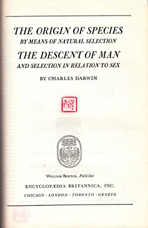 The Origin of Species by Means of Natural Selection and The Descent of Man and Selection in ...