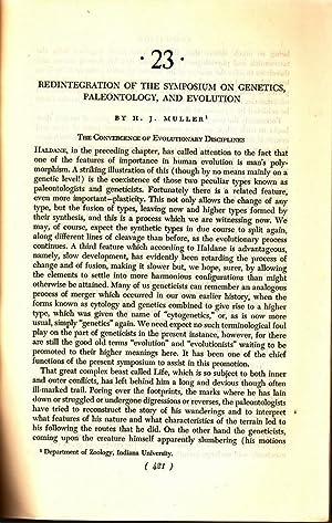 Redintegration of the Symposium on Genetics, Paleotology, and Evolution: Muller, H.J.