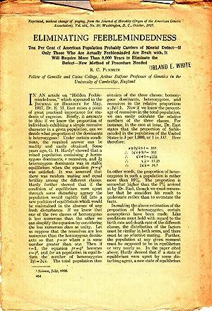Eliminating Feeblemindedness: Punnett, R.C.