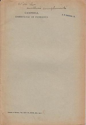 The Embryo-sac of Pandanus: Campbell, Douglas Houghton