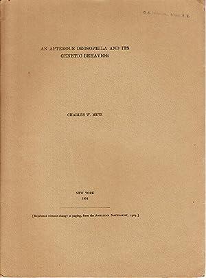 An Apterous Drosophila and its Genetic Behavior: Metz, Charles W.