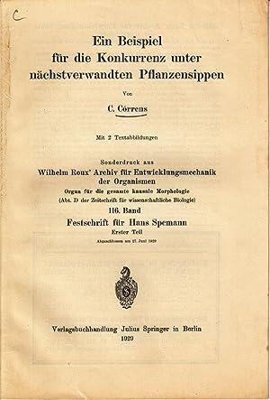 Ein Beispiel fur die Konkurrenz unter nachstverwandten Pflanzensippen: Correns, C.