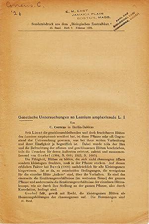 Genetische Untersuchungen an Lamium amplexicaule L. I: Correns, C.