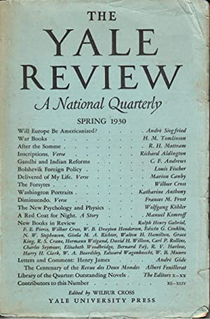 The Yale Review Vol. XIX No. 3 Spring 1930: Cross, Wilbur, editor