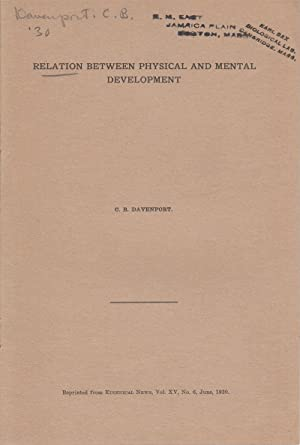 Relation Between Physical and Mental Development: Davenport, C.B.