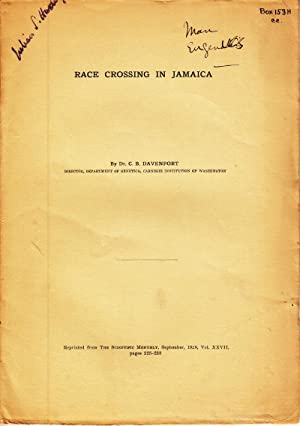 Race Crossing in Jamaica: Davenport, C.B.