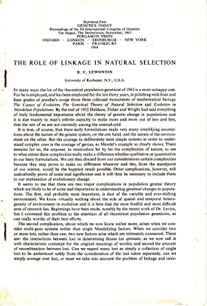 The Role of Linkage in Natural Selection: Lewontin, R.C.