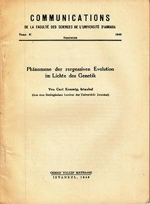 Phanomene der rergessiven Evolution im Lichte des Genetik: Kosswig, Curt
