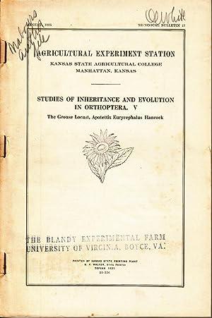 Studies of Inheritance and Evolution in Orthoptera. V.: Nabours, Robert K.