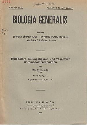Multipolare Teilungsfiguren und vegetative Chromosomenreduktion: Nemec, B.