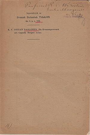 Ein Kreuzungsversuch mit Capsella Heegeri Solms: Dahlgren, K.V. Ossian
