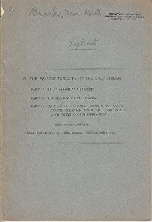 IV. The Pelagic Tunicata of the Gulf Stream: Brooks, William Keith