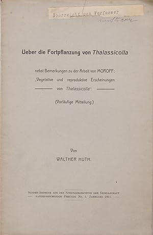 Ueber die Fortpflanzung von Thalassicolla: Huth, Walther