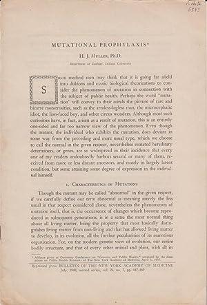 Mutational Prophylaxis: Muller, H.J.