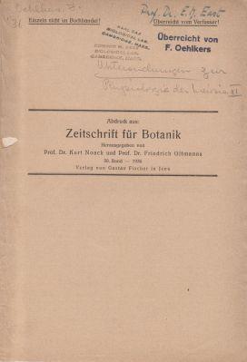 Untersuchungen zur Physiologie der Meiosis III.: Oehlkers, Friedrich