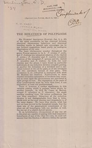 The Behaviour of Polyploids: Darlington, C. D.