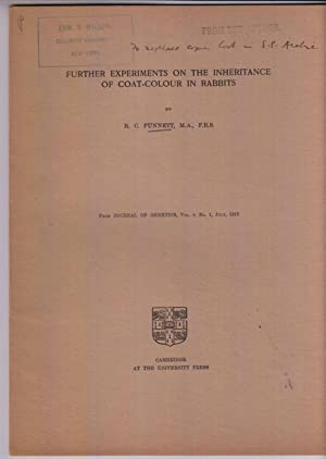 Further Experiments on the Inheritance of Coat-Colour in Rabbits: Punnett, R. C.