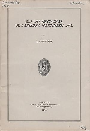 Sur la Caryologie de Lapiedra Martinezii Lag: Fernandes, A.