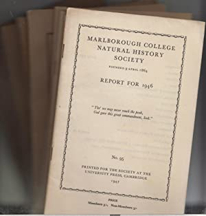 10 issues of Report of The Marlborough College Natural History Society 1935, 36, 38, 39, 40, 42, 44...