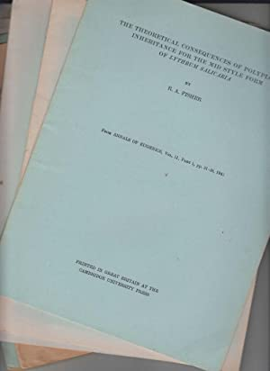 Ronald A. Fisher 16 rare offprints 1934 to 1953 Crossing-Over in the Land of Snail Cepaea Nemoralis...