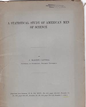 A statistical study of American Men of Science