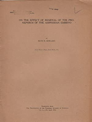 On the Effect of Removal of the pronephros of the Amphibian Embryo