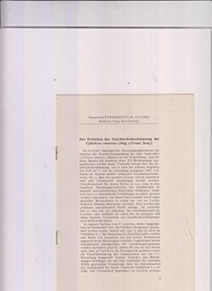 Zur Evolution der Geschlechtsbestimmung bei Cylisticus convexus: Leuken, W.