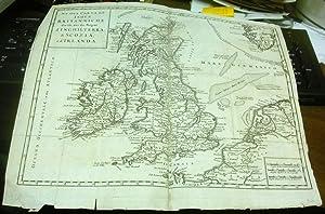 Nuova Carta dell' Isole Britanniche divise nei: L'Isle (Guillaume de)]