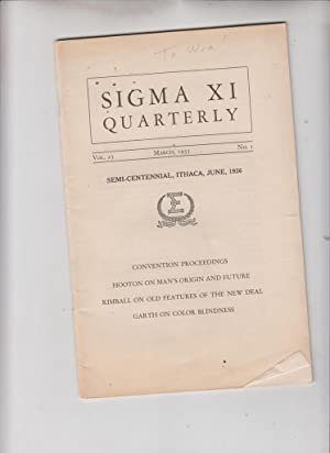 Sigma Xi Quarterly: The Semi-Centennial