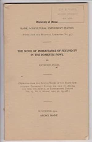 The Model of Inheritance of Fecundity in the Domestic Fowl by Pearl, Raymond