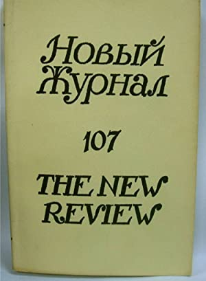 Novyi Zhurnal The New Review 107 A Russian Quarterly IN RUSSIAN