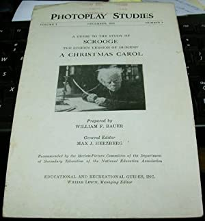 A Guide to the Study of Scrooge The Screen Version of Dickens' A Christmas Carol (photoplay ...