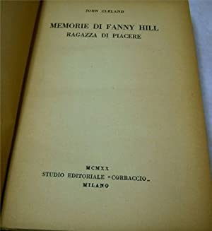 Bound pamphlets: Memorie Di Fanny Hill; l fenomeni spiritici e la scienza 1906; Storia della ...