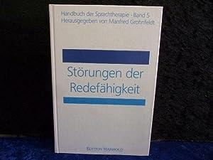 Handbuch der Sprachtherapie, 8 Bde., Bd.5, Störungen: Grohnfeldt, Manfred