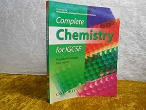 Complete Chemistry for IGCSE.: Gallagher, RoseMarie; Ingram,