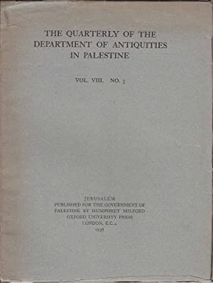 The Quarterly of the Department of Antiquities: Horsfield & Horsfield,