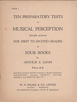 Ten Preparatory Tests in Musical Perception for: Loam, Arthur S.