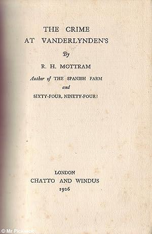 The Crime at Vanderlynden's: Mottram, R.H.