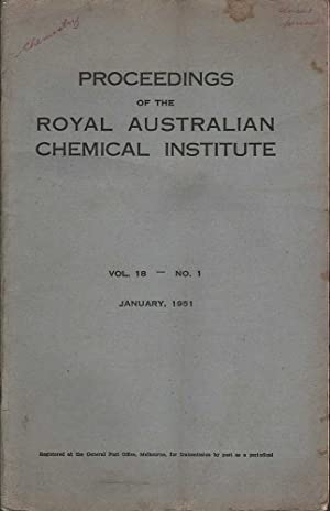 Proceedings of the Royal Australian Chemical Institute: Volume 18 No.1: Various