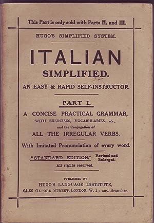 Hugo's Simplified System: Italian Simplified 3 Volumes: Various