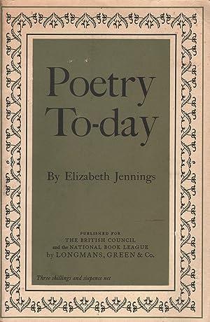 Poetry Today: Jennings, Elizabeth