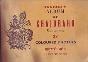 Tourists Album of Khajuraho Containing 32 Coloured Photos: Various